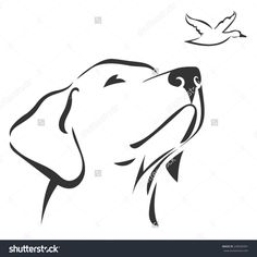 Labrador Head 3 Image vectorielle de stock (libre de droits) de 248505991 - Tête de Labrador 3 You are in the right place about diy clothes Here we offer you the most beautif - Dog Line Art, Dog Art, Animal Line Drawings, Art Drawings, Tattoo Silhouette, Osiris Tattoo, Small Dog Tattoos, Small Tattoo, Body Art Tattoos