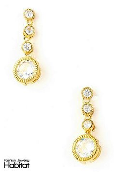 Magnificent Milestone Drop Earrings - $16.00 at FashionJewelryHabitat.com - #FashionJewelryHabitat #FashionHabitat