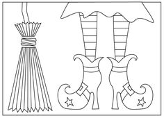 free halloween coloring pages, halloween coloring sheets, witch coloring pages, witches broom, witches shoesFree Halloween Coloring Pages--If I only had a decent printer!Free Halloween Coloring Pages. Halloween Infantil, Moldes Halloween, Manualidades Halloween, Adornos Halloween, Theme Halloween, Halloween Cards, Holidays Halloween, Happy Halloween, Halloween Decorations