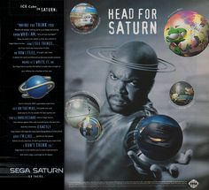 Sega Saturn advertisement from 1995 featuring Ice Cube. #gaming #games #gamer #videogames #videogame #anime #video #Funny #xbox #nintendo #TVGM #surprise