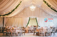 Wedding Decor Ideas – 20 Ideas for Spring Wedding - Nieuwe Decoratie Vintage Wedding Theme, Unique Wedding Venues, Tent Wedding, Wedding Themes, Unique Weddings, Wedding Ideas, Wedding Locations, Luxury Wedding, Gold Wedding