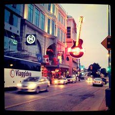 Outside the Hard Rock Cafe in Niagara Fall Canada.