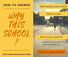 How To Answer Why This School Essay College Examples Application