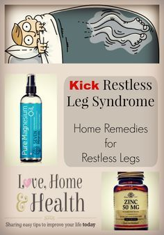Restless Leg REMEDY that WORKS Restless Leg Syndrome - A very uncomfortable disorder that thousands are plagued with every night of the world. But we have a simple remedy. Restless Legs Home Remedies, Cure For Restless Legs, Natural Remedies For Depression, Natural Home Remedies, Natural Healing, Easential Oils, Natural Sleeping Pills, Sleep Remedies, Rls Remedies