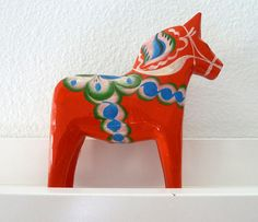 Vintage Swedish Dala Horse