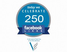 250 Likes for our Facebook page