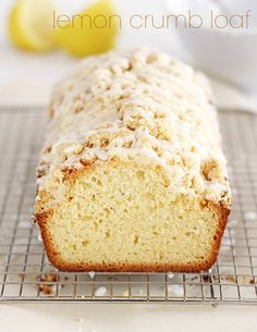 "Lemon Crumb Loaf from the ""Quick Bread Love"" eCookbook 