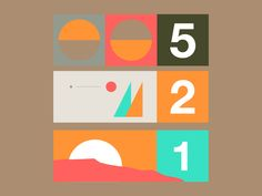 1 - 2 - 5 by Mike Smith #Design Popular #Dribbble #shots