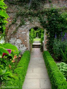 Sissinghurst is notorious for its garden vistas like the one shown here.  As you walk through the garden, the paths and hedges beckon you to investigate what lies beyond your view.