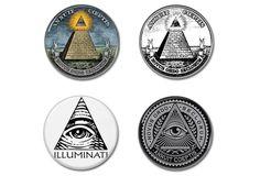 ILLUMINATI buttons set of4!  #badges #illuminati #newworldorder #pins