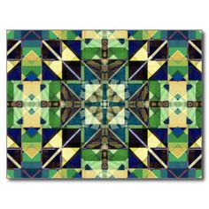 Abstrato colorido dos azulejos cartão postal