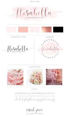 Branding Package Rose Gold & Pink Watercolor by VisualPixie Layout Design, Web Design, Blog Design, Cafe Design, Branding Kit, Branding Design, Branding Ideas, Business Branding, Logo Ideas