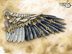 SALE Raven Wing: A Study in Clockwork by ClockworkArtShop on Etsy