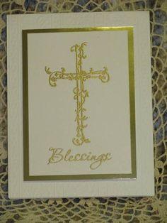 DGS's First Communion card