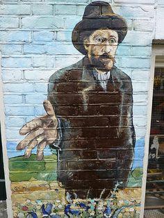 Amsterdam Street Art - Vincent Van Gogh #streetstyle
