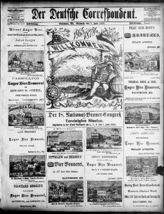 Der Deutsche correspondent. (Baltimore, Md.) 1841-1918, June 05, 1878, Fest-Beilage., Image 5, brought to you by University of Maryland, College Park, MD, and the National Digital Newspaper Program. Chronicling America: Historic American Newspapers, Library of Congress.