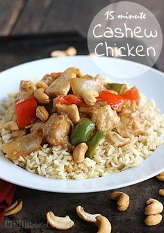 Chicken Recipes 15 Minute Cashew Chicken recipe