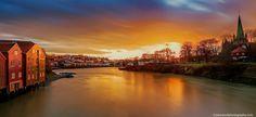 Sunset over nidelva, Trondheim, Norway by Aziz Nasuti on 500px
