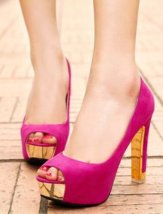 Thick With High-Heeled Pumps Sequins Fish Head Shoes