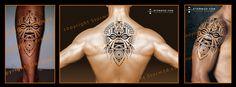 Polynesian inspired Tiki tattoo flash designs