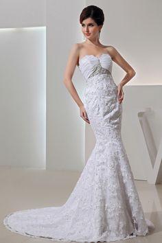 2013 Wedding Dresses Trumpet/Mermaid Sweetheart Court Train Organza