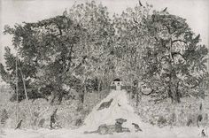 Anthony Gross RA, Landscape with Dogs and Pigeons, 1937 Victorian Homes, Pigeon, Printmaking, Sketches, Landscape, Gallery, Drawings, Prints, Artist