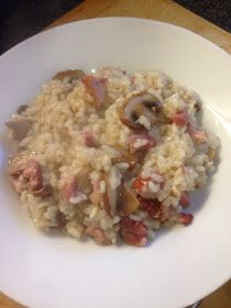 : Bacon and mushroom baked risotto (slimming world friendly)