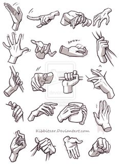 Hands reference 4 by Kibbitzer on deviantART