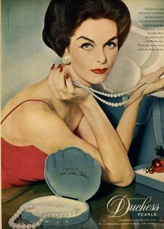 Duchess Pearls  Ad Campaign 1956