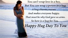 Beautiful happy hug day greetings pics 2016 cute romantic couples happy hug day wishes for him and her m4hsunfo