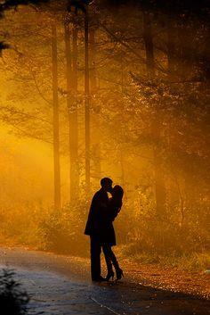 Aimer, ce n'est pas se regarder l'un l'autre, c'est regarder ensemble dans la même direction.  {Love doesn't mean gazing at each other, but looking, together, in the same direction} -from Terre des hommes by Antoine de St-Exupéry