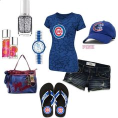 Chicago Cubs. I would definitely wear this minus the flip flops.