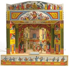 had this as a kid. Mum and dad bought it for my sisters and me from either The Victoria and Albert Museum or Bethnal Green Museum. Loved making up stories and drawing different characters to produce my stories as plays which I would put on for my family.