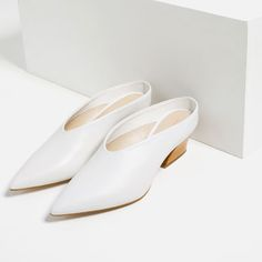 Image 5 of LEATHER MULE SHOES from Zara