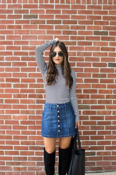 Bloggers are wearing: The Button Front Skirt | Pandora, Jewelry ...