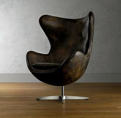 Egg chair - Arne Jacobsen in leather