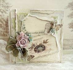 Home Sweet Home by Minna for Pion Design. Paper collection: Vintage Garden