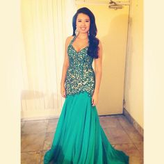 www.pageantresale.com - This custom gown is gorgeous you will fall in love with it. - Click for more details or to contact the seller of this item.  Have something to sell?  Visit www.pageantresale.com to get started! #pageantresale #pageantgown #sherrihill