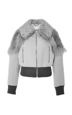 Shearling-Trimmed Alpaca-Blend Bomber Jacket by Marc Jacobs Now Available on Moda Operandi