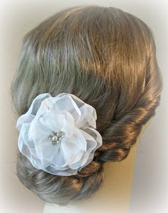 Romantic Ivory Hair Flower Bridal Fascinator by TheRedMagnolia