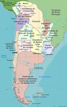 rio de la plata historia mapa - Buscar con Google Maps, Crochet, Google, Cusco, Arequipa, Argentina Map, Social Science, Old Pictures, Learning