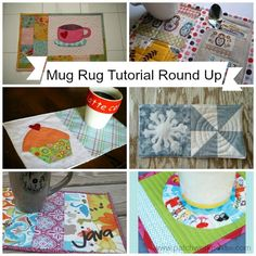 Mug Rug Pattern with UFO Quilt Blocks {52 UFO Quilt Block Pick Up}