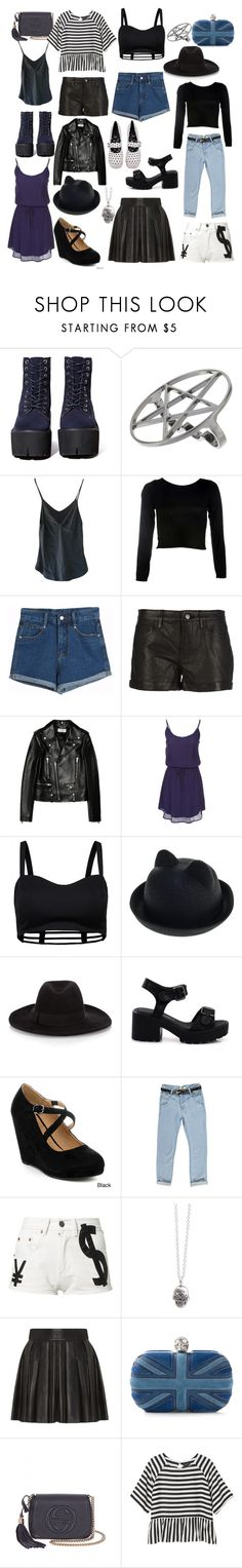 """""""rebel goth clothes closet staples dark/navy blue nasty gall"""" by thelovelymonalisa ❤ liked on Polyvore featuring Jeffrey Campbell, Me & Zena, Chicnova Fashion, Theory, Yves Saint Laurent, Scoop, ONLY, Marie Mercié, Forever and Boohoo"""