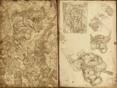 """""""Dwarves, Dragons and Other Miscreants"""" Sketchbook 2014 by Justin Gerard — Gallery Gerard Toned Paper, Art Competitions, Fantasy Illustration, Wizards Of The Coast, Fantastic Art, Dwarf, Fantasy Characters, Illustrators, Vintage World Maps"""