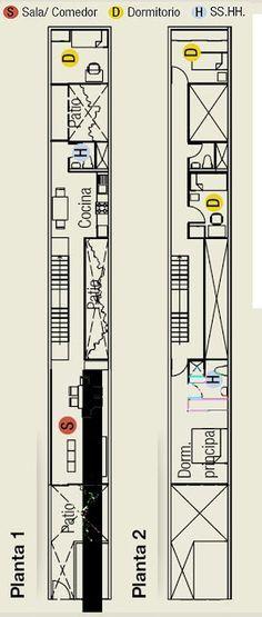 Planos para terreno super angosto de 3 metros de ancho for Planos para casas gratis