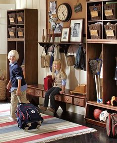 Mudroom of my dreams! Heck, at this point I'd settle for a mudroom of my nightmares so long as it got the messy shoes out of my dining room!