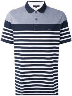 Michael Kors Camisa polo listrada Camisa Polo Listrada, Polo Listrado, Look  Masculinos 06e3664108