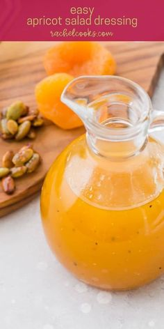 Apricot preserves sweetly flavor this bright apricot vinaigrette. It may become your favorite dressing! Healthy Salad Recipes, Lunch Recipes, Great Recipes, Cooking Recipes, Easy Recipes, Homemade Dressing Recipe, Vinaigrette Dressing, Spice Mixes, Kid Friendly Meals