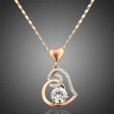 Looking for that perfect rose gold heart pendant necklace gift for your girlfriend or wife? This necklace is stunning and definitely worth taking a look!