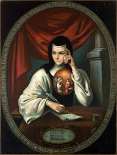 No other female poet has made an impact like Juana Inés de la Cruz. She has become a feminist icon, a Mexican legend, and one of the most loved poets in recent history. Juana Inés was a rebel and a… Female Poets, Colonial Art, Religious Text, Feminist Icons, Hispanic Heritage Month, Peter The Great, Catholic Religion, Hippie Art, I Icon
